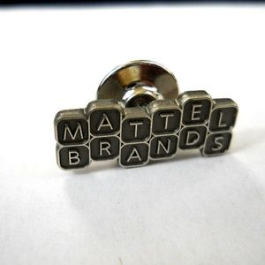 Silver Mattel Brands Child Pin Marked STER